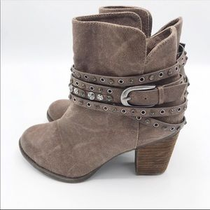 Not Rated Vegan Suede Ankle Booties Size 8M